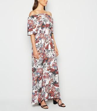 New Look Urban Bliss Paisley Bardot Maxi Dress