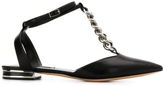 Casadei chain link ballerina shoes