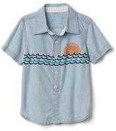 Gap Sun surf chambray shirt