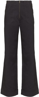 USISI SISTER Isabella high-waisted flare jeans