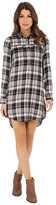 Lucky Brand Plaid Henley Shirtdress