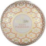"Voluspa Maison Blanc ""Saijo Persimmon"" 2 Wick Printed Tin Candle"