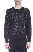 Alexander McQueen Wool Blend Perforated Sweatshirt