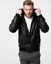 Le Château Tonal Leather-Like Bomber Jacket