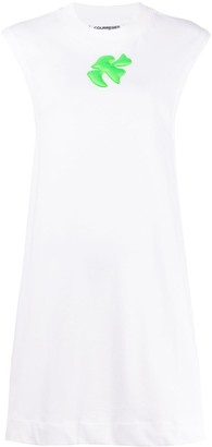 Courreges Embroidered Flared Mini Dress