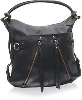 ASOS Leather Zip Detail Slouch Shoulder Bag