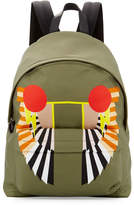 Givenchy Wings-Print Canvas Backpack, Khaki