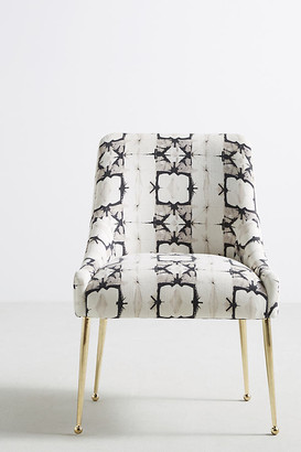 Anthropologie Minara-Printed Elowen Chair By in Grey Size ALL