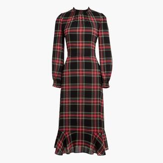 J.Crew Petite ruffleneck peasant dress