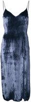 Baja East low back velvet slip dress