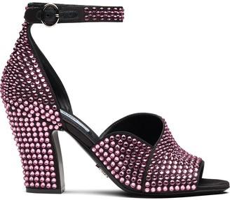 Prada rhinestone embellished sandals