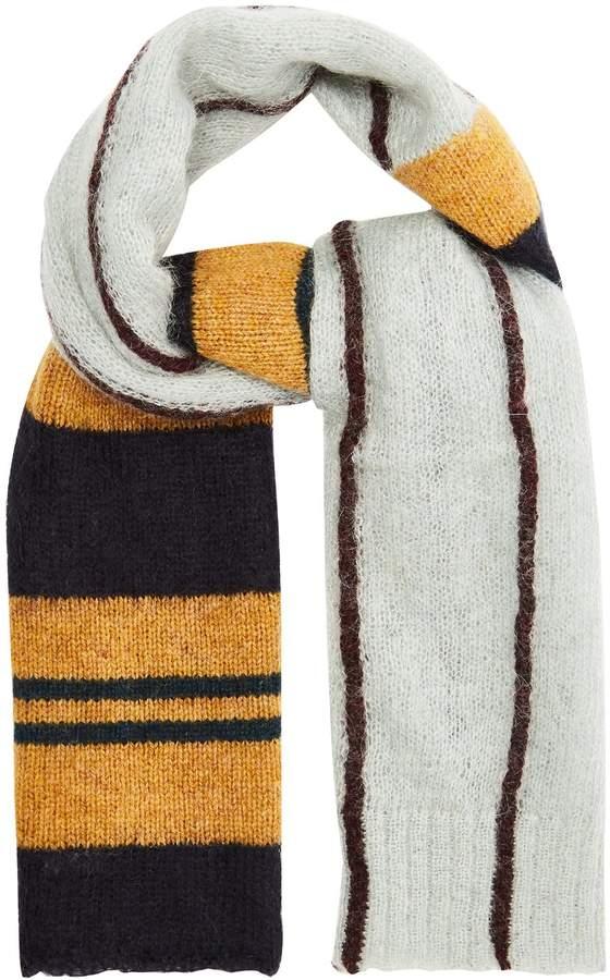 Marni Striped-knit scarf