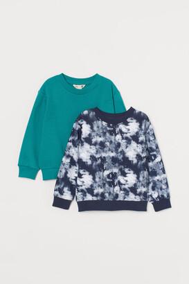 H&M 2-pack Sweatshirts - Turquoise