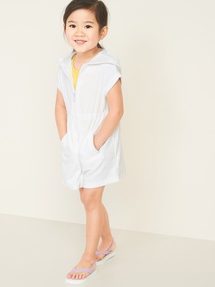 Old Navy Hooded Loop-Terry Swim Cover-Up for Toddler Girls