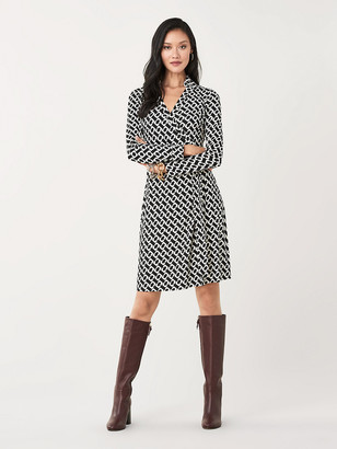 Diane von Furstenberg New Jeanne Two Silk-Jersey Wrap Dress