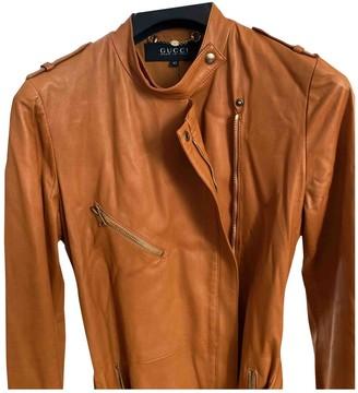 Gucci Orange Leather Jacket for Women