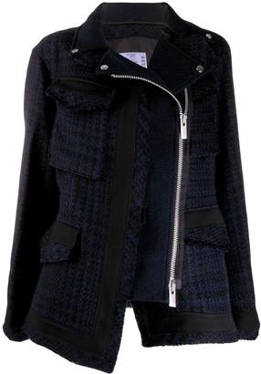 Sacai Zipped Tweed Jacket