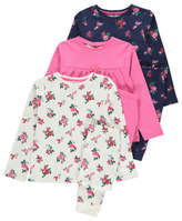 George 3 Pack Assorted Floral Pyjamas