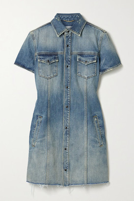 Saint Laurent Denim Mini Dress - Blue