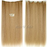 Smile 20inch Women Long straight synthetic hairpieces clip in Hair Extensions 12COLORS