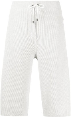Brunello Cucinelli Ribbed-Knit Knee-Length Shorts