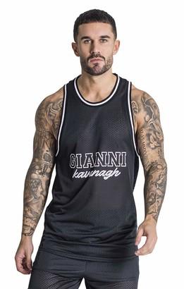 Gianni Kavanagh Men's Black GK1 Basketball Edition Vest Undershirt XL