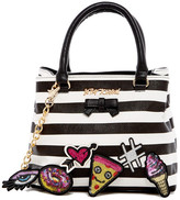 Betsey Johnson Faux Leather Sticky Situation Satchel