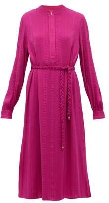 ZEUS + DIONE Hera Silk-blend Crepe Midi Dress - Womens - Pink