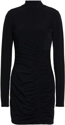 Cinq à Sept Ruched Stretch-jersey Turtleneck Mini Dress