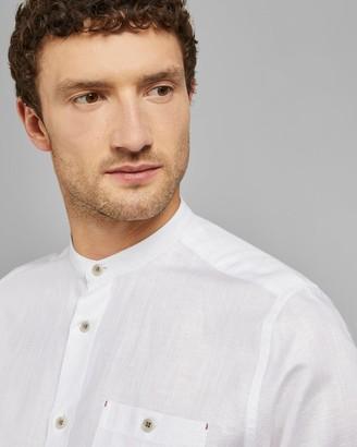 Ted Baker Grandad Collar Cotton Shirt