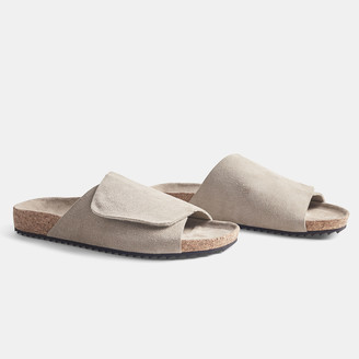 James Perse Velcro Suede Slide - Womens