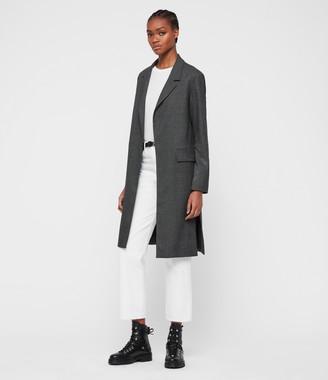 AllSaints Aleida Check Duster Coat