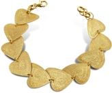 Stefano Patriarchi Etched Golden Silver Heart Link Bracelet