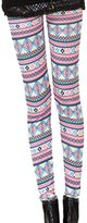 DEHANG Women Stretch Skinny Tribal Print Leggings Pants Footless