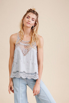 Womens STAYING ALIVE LACE TANK T