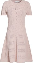 Valentino Flared Pointelle-knit Mini Dress