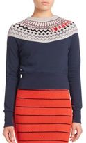 Sonia by Sonia Rykiel Crewneck Embroidered Sweater