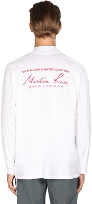 Martine Rose Logo Print Mock Neck Jersey T-Shirt