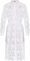 No.21 NO. 21 Floral-lace shirtdress