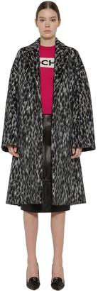 Rochas Belted Wool Blend Coat