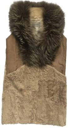 Yves Salomon Ecru Fox Jacket for Women