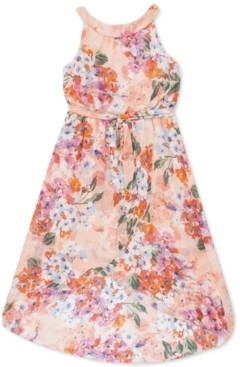 Speechless Little Girls Floral High-Low Maxi Dress, Created for Macy's