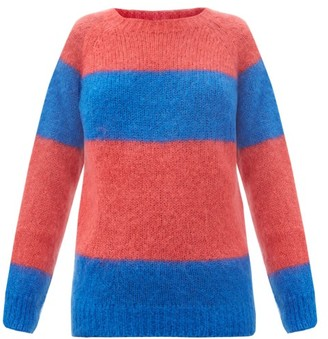 Molly Goddard Noah Striped Mohair-blend Sweater - Pink Multi
