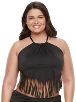 Apt. 9 Plus Size High-Neck Fringe Bikini Top