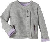 Vince Kids Moto Jacket (Toddler/Kid) - Heather Steel/ Blush-4