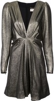 Saint Laurent V-neck metallic dress