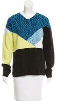 Tibi Patterned V-Neck Sweater