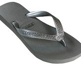 Dini's - Women's Grey Silver Crown Flip Flop