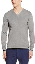 Calvin Klein Men's Cotton Modal Micro-Print Sweater