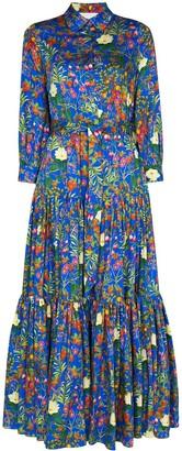 Borgo de Nor Clarissa floral-print shirt dress